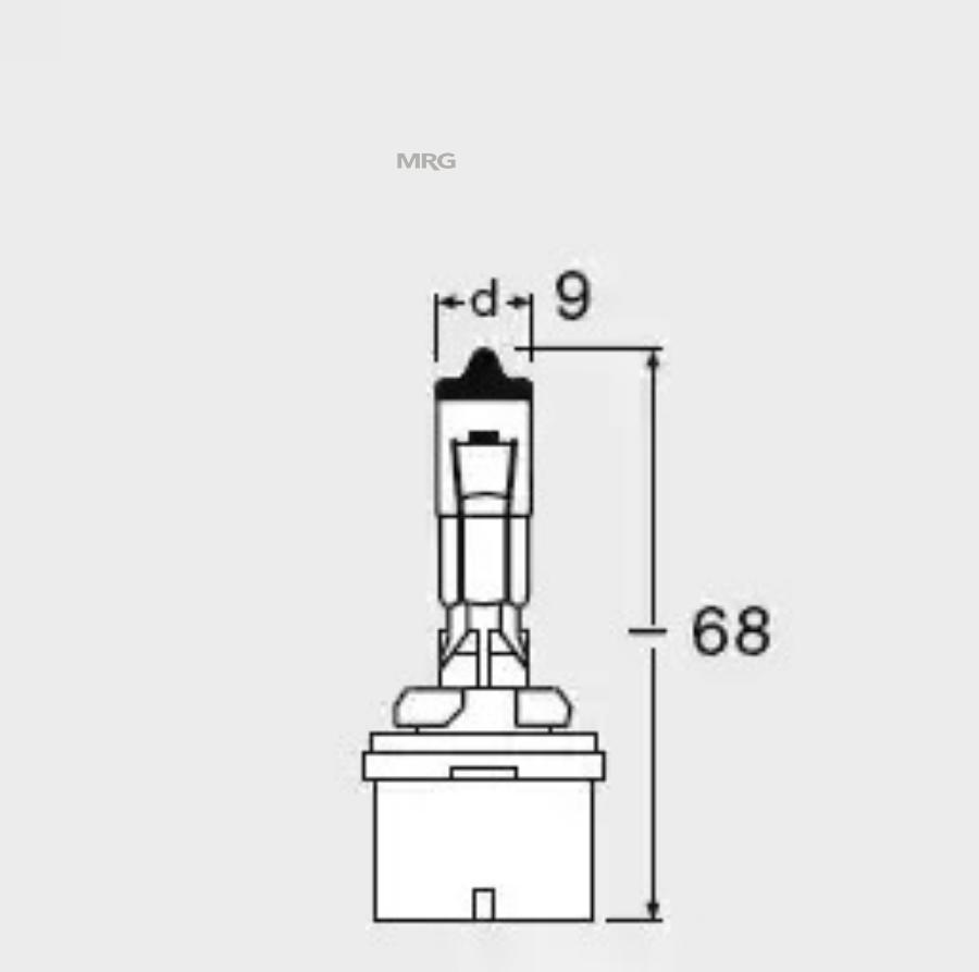 Лампа H27W/1 (прямая)