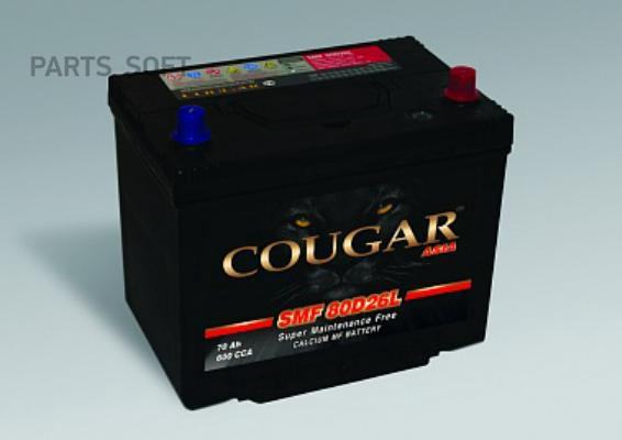 "Аккумулятор ""COUGAR SMF"" ASIA 85Ач 680Ah (+ -) пр.полярн. ниж.креп. 260-175-225"