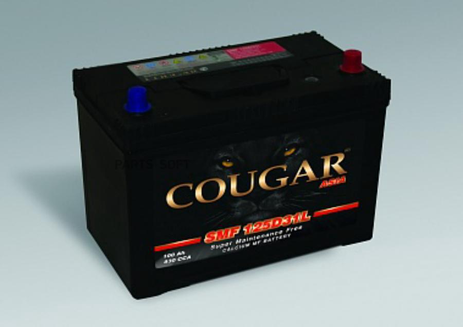 "Аккумулятор ""COUGAR SMF"" ASIA 100Ач 830Ah (- +) обр.полярн.нижн.креп. 305-175-225"