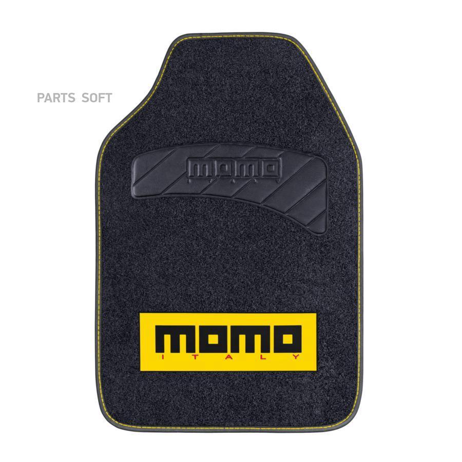 """Коврики автомобильные """"MOMO"""", серия """"SPORT"""" MOMO-401 BK/YE"""