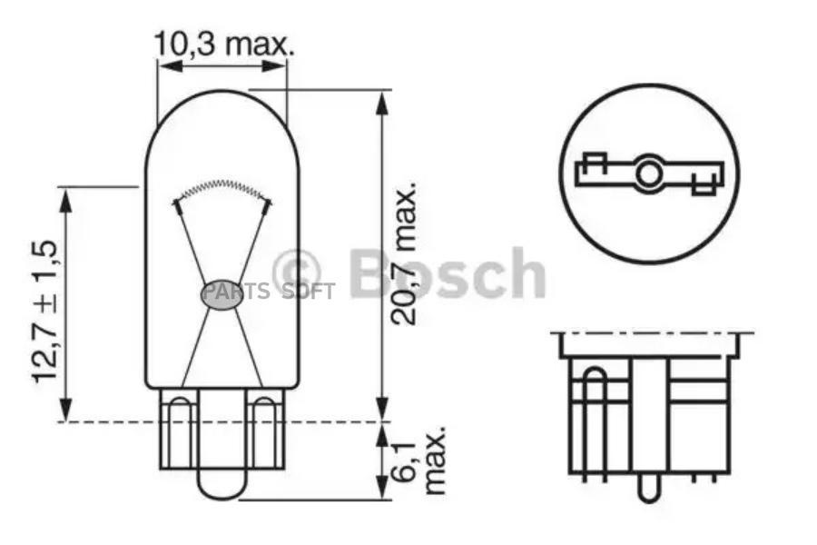 Лампа накаливания, фонарь освещения номерного знак