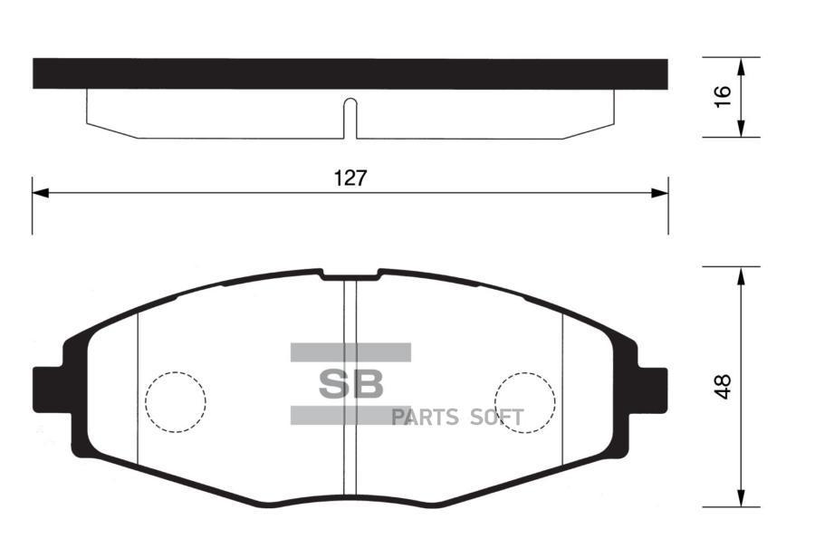 Колодки торм. CHEVROLET LANOS/SPARK 05-/DAEWOO NEXIA 16V/MATIZ 98- перед.к-т