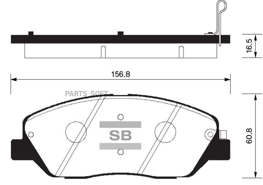 Колодки торм. перед. Hyundai Santa Fe 03-/Kia Carnival III 06-/SP1194