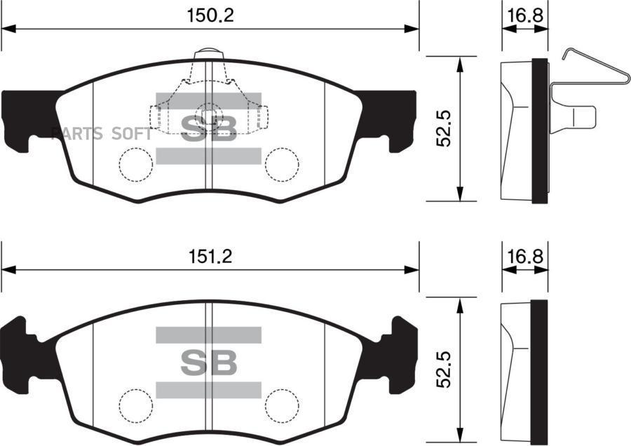 Колодки торм. перед. Fiat Doblo/Punto/Strada/SP1198