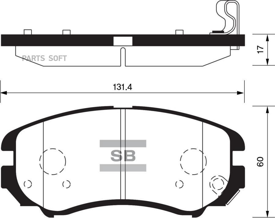 Колодки торм. перед. Hyundai Sonata (ТАГаз)/Tucson/Elantra/Kia Magentis/Sportage