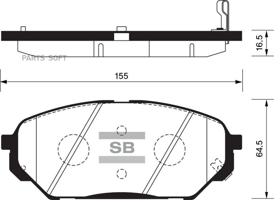 Колодки торм. перед. Hyundai ix55/Veracruz (EN)(07~)