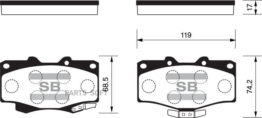 Колодки торм. перед. Toyota Land curiser/Hilux/4 Runner/VW Taro/0449135250/SP1222