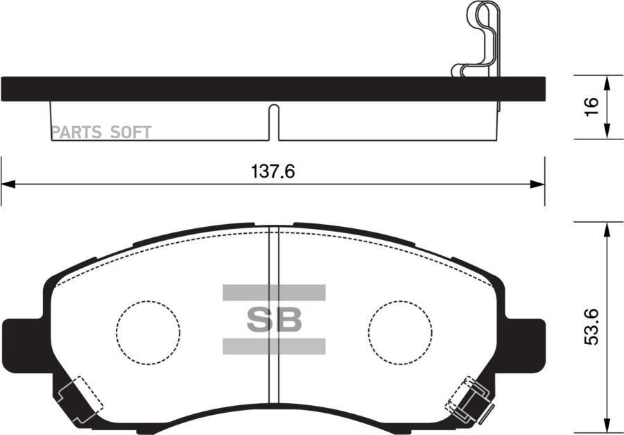 Колодки торм. перед. Subaru Impreza/Legacy