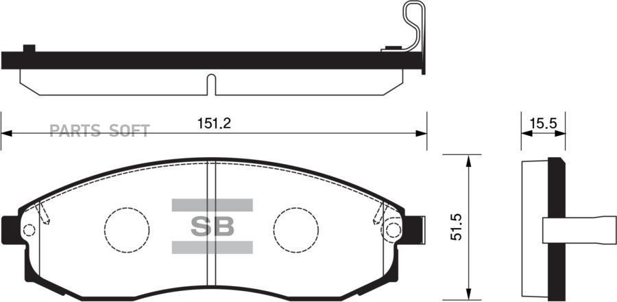 Колодки торм. перед. Nissan Maxima/Skayline/Avenir/Laurel PN-2309/469 00