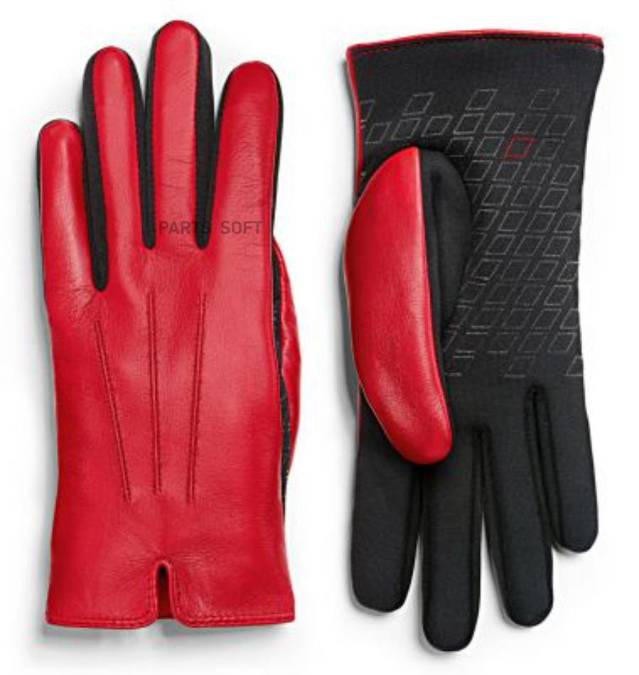 Женские кожаные перчатки Audi Sport Womens Leather Gloves Red/Black