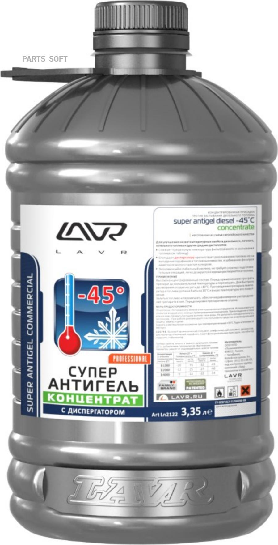 Суперантигель Концентрат присадка в дизельное топливо LAVR Super Antigel Commercial