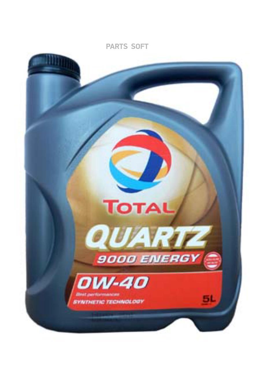 Масло моторное синтетическое QUARTZ 9000 ENERGY 0W-40, 5л