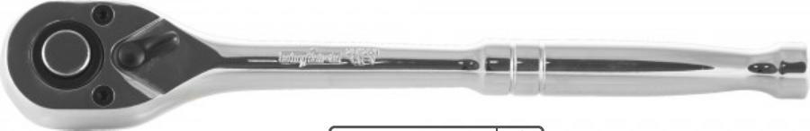 """Рукоятка трещоточная 3/8""""DR, металлическая ручка 72 зубца"""