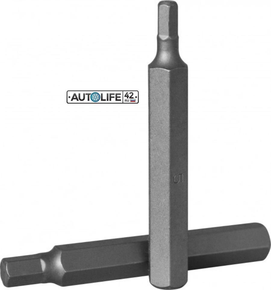 Вставка-бита 10 мм DR x 75 мм HEX 12 мм