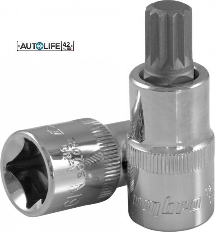 Насадка торцевая 1/2DR с вставкой-битой SPLINE, M14 120714 OMBRA 120714