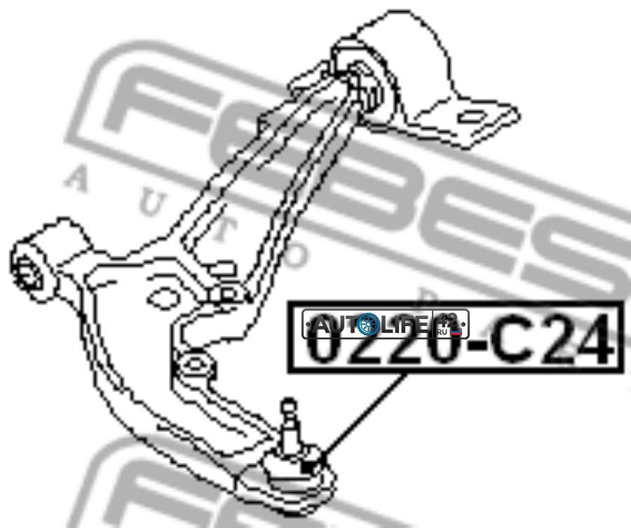 Опора шаровая переднего нижнего рычага FEBEST 0220C24