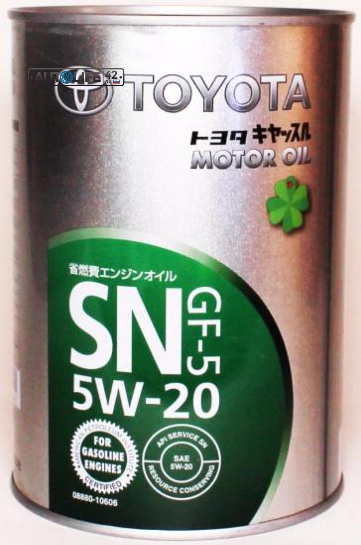 Масло моторное полусинтетическое SN 5W-20, 1л