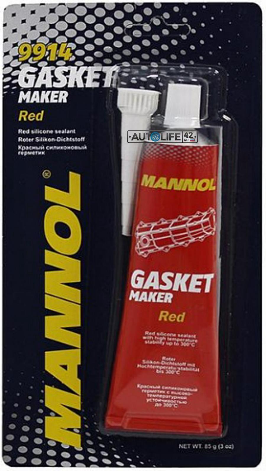 Герметик высокотемпературный MANNOL Silicone-Gasket Red