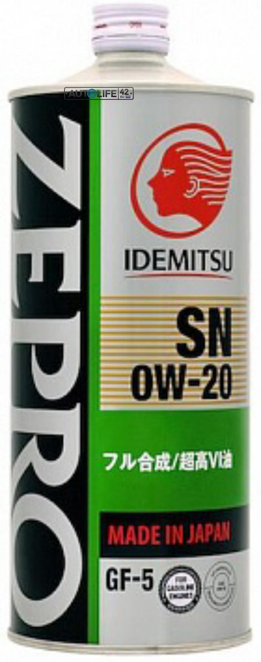Масло моторное синтетическое IDEMITSU ZEPRO ECO MEDALIST SN/ GF5 0W20 1л. IDEMITSU 3583001