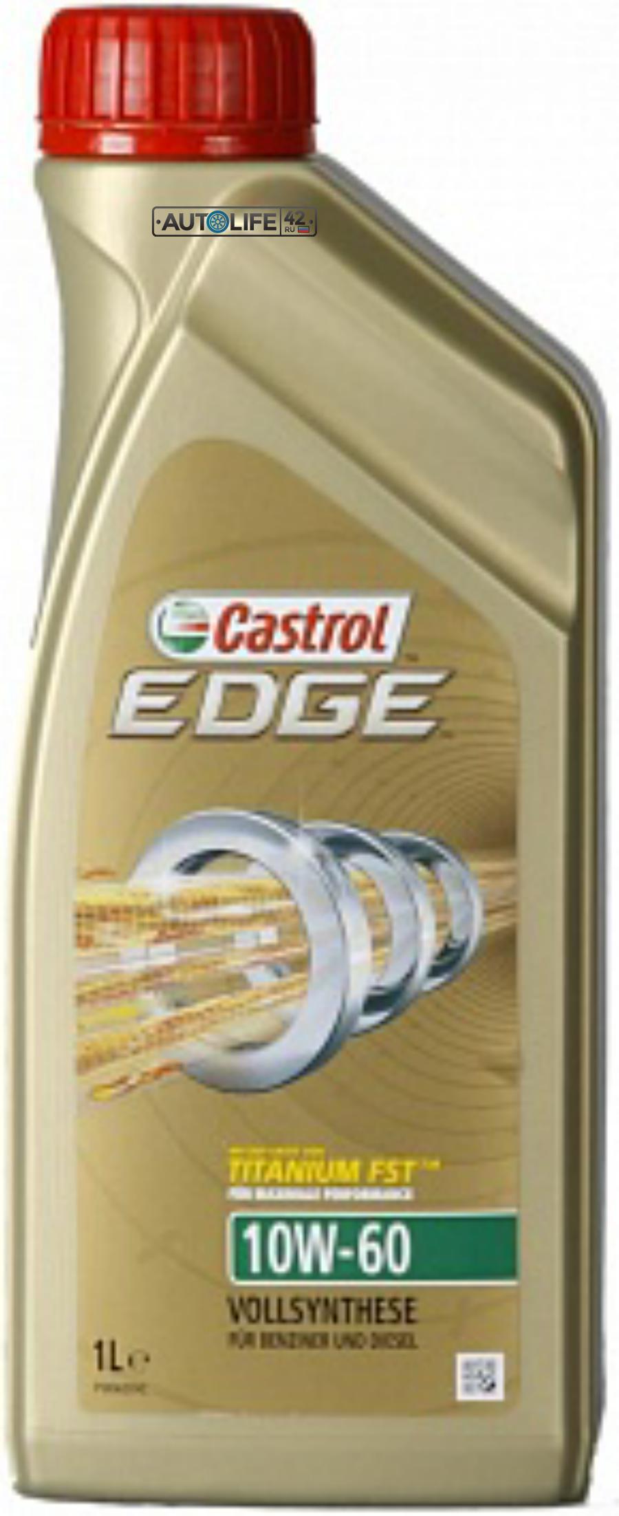 Масло моторное синтетическое EDGE Titanium FST 10W-60, 1л