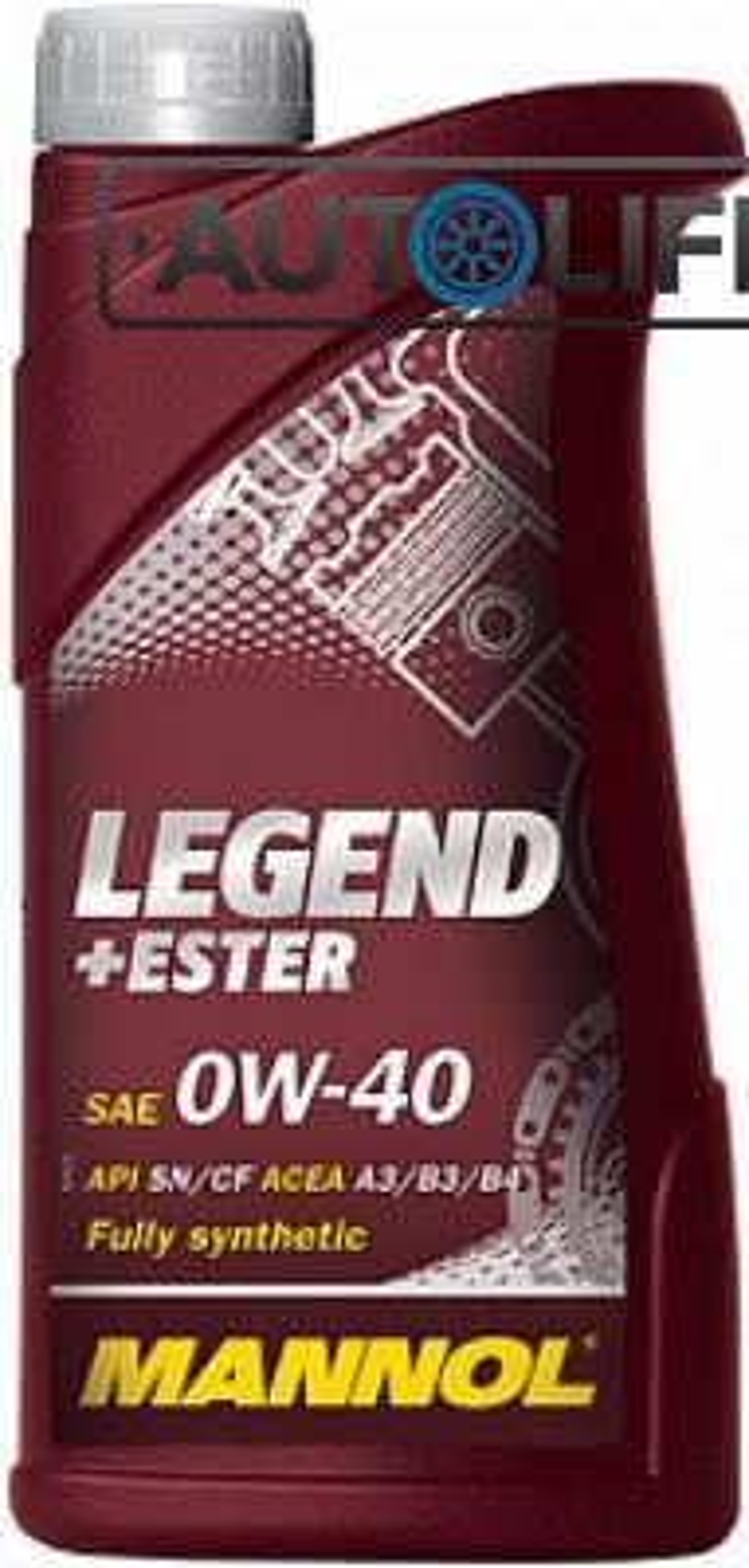 Масло моторное синтетическое LEGEND+ESTER 0W-40, 1л