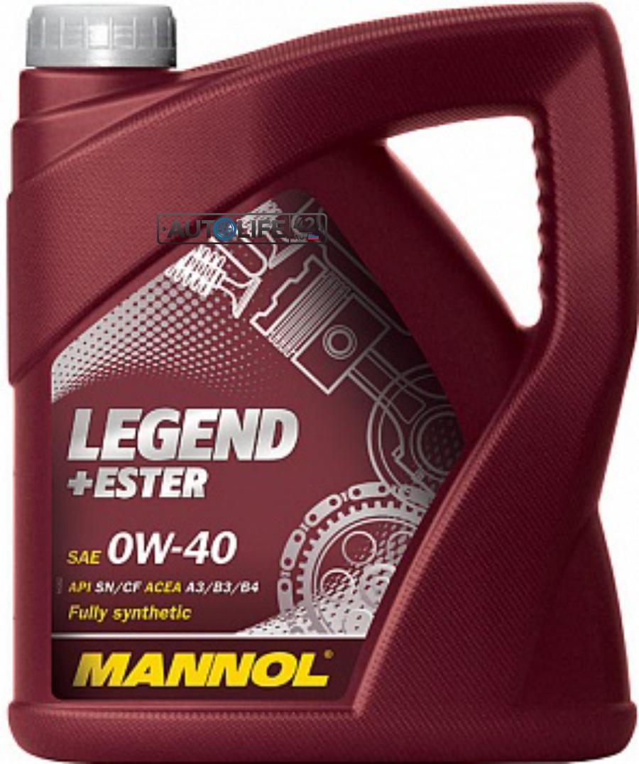 Масло моторное синтетическое LEGEND+ESTER 0W-40, 4л