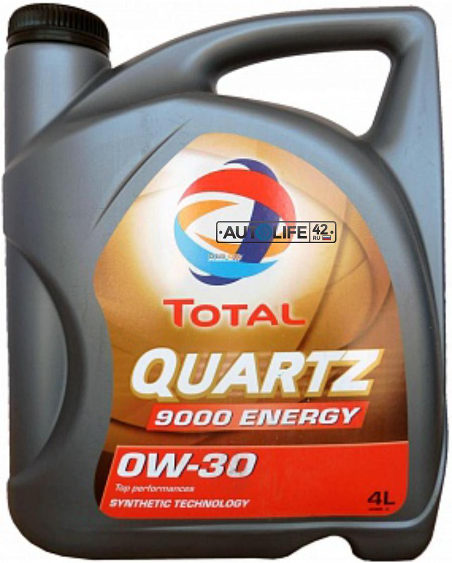Масло моторное синтетическое QUARTZ 9000 ENERGY 0W-30, 4л