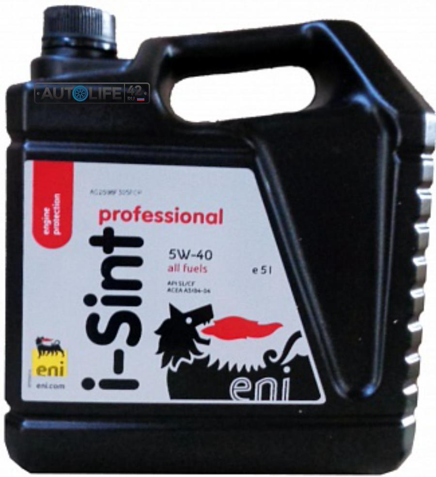 Масло моторное синтетическое I-Sint professional 5W-40, 5л
