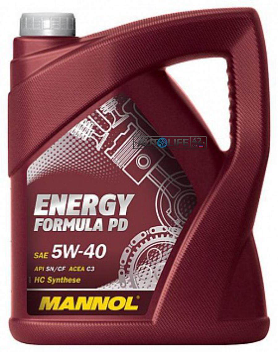 Масло  Energy Formula PD 5W-40 API SN/SM/CF 5L (MN7913-5)