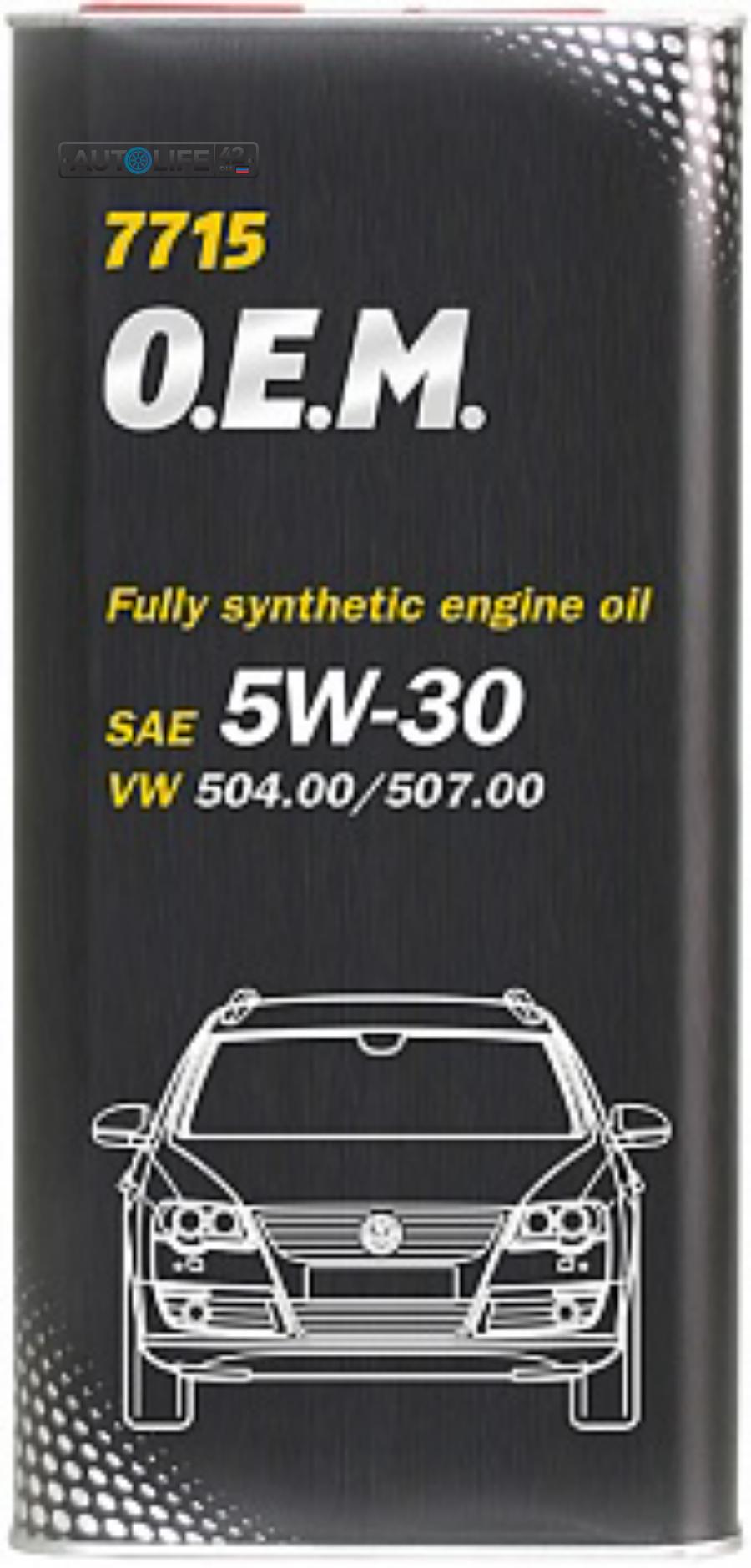Масло моторное синтетическое 7715 O,E,M, for VW Audi Skoda 5W-30, 5л