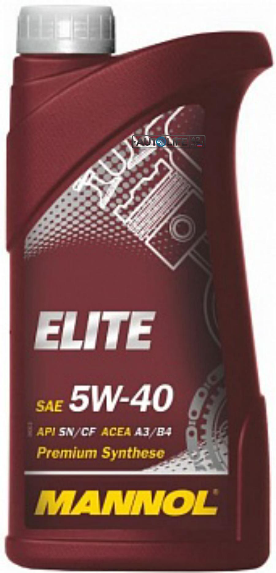 Масло моторное синтетическое ELITE 5W-40, 1л
