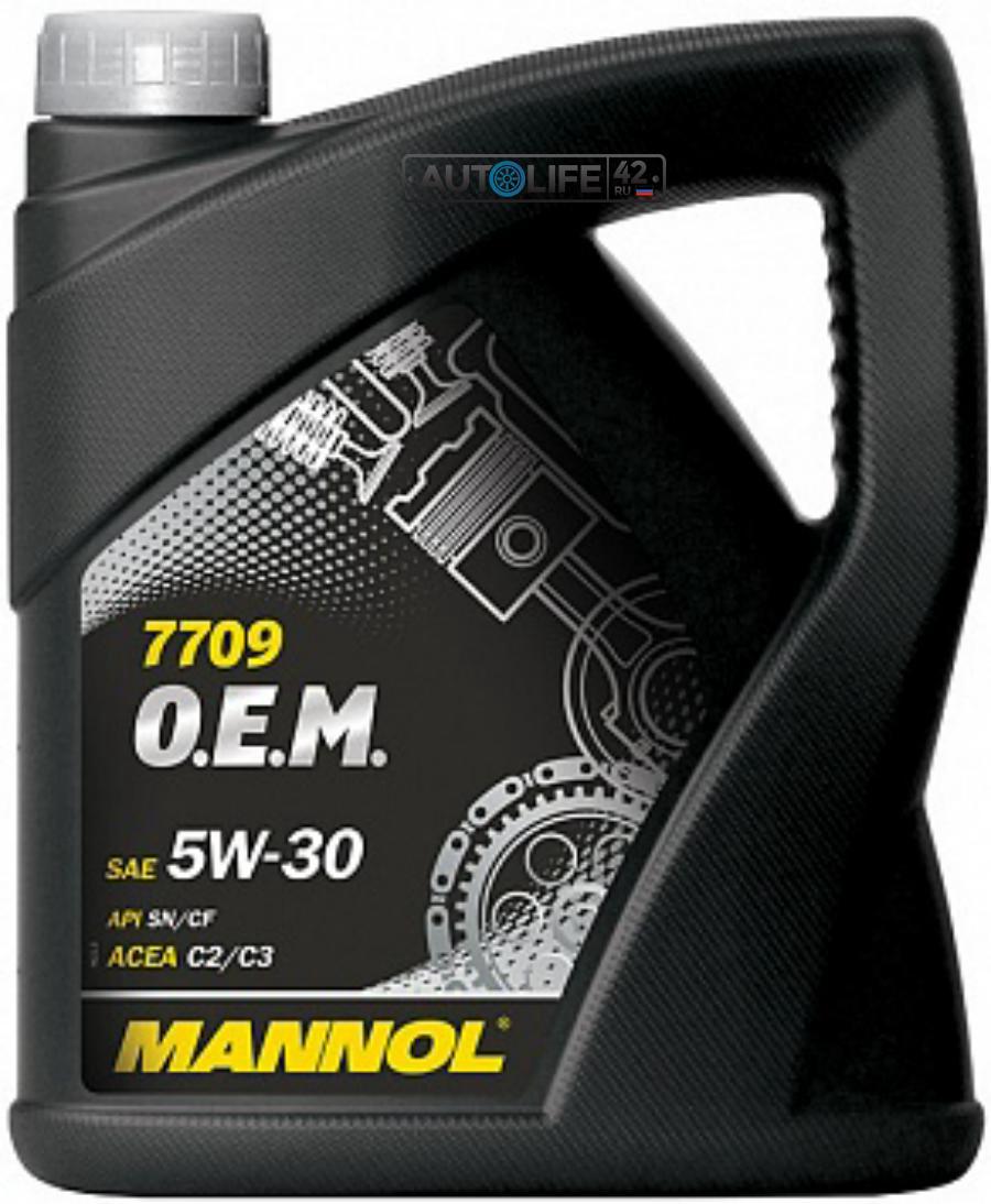Масло моторное синтетическое 7709 O,E,M, for Toyota Lexus 5W-30, 4л