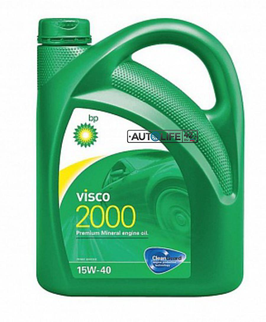 Масло моторное минеральное Visco 2000 15W-40, 5л