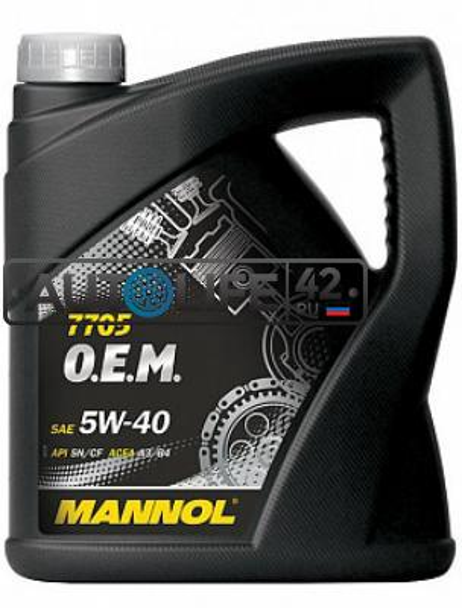 Масло моторное синтетическое 7705 O,E,M, for Renault Nissan 5W-40, 4л