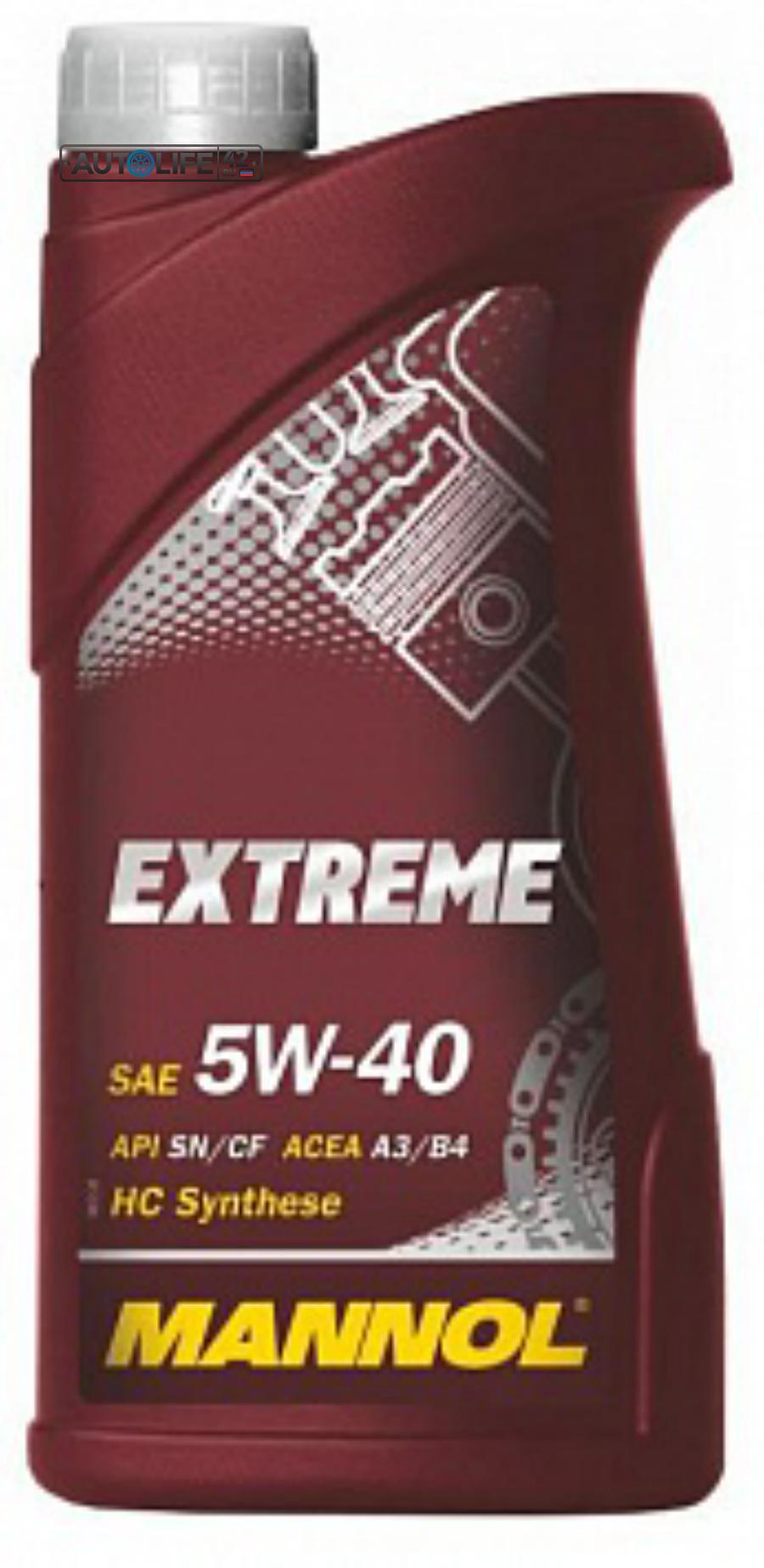 Масло моторное синтетическое EXTREME 5W-40, 1л