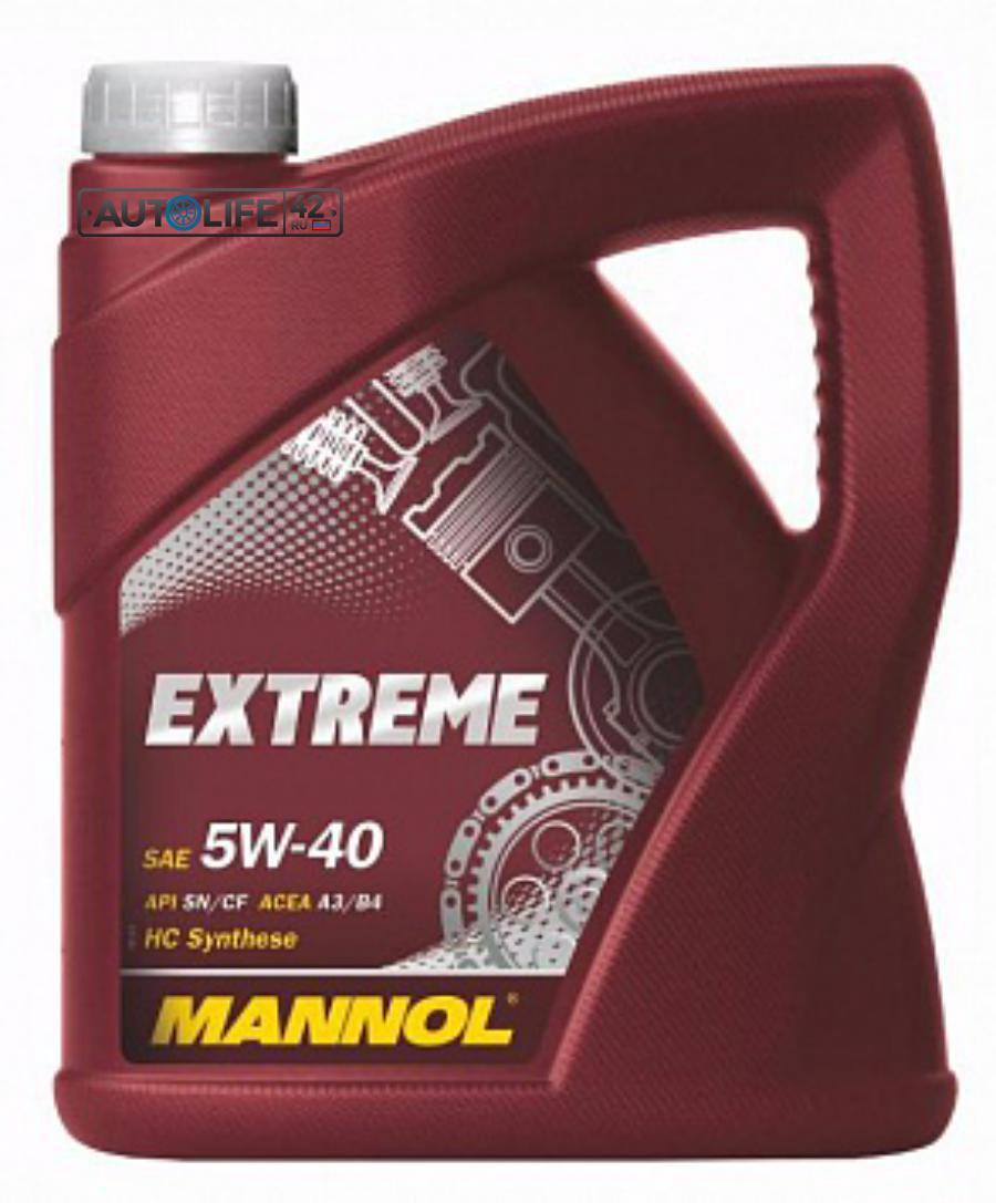 Масло моторное синтетическое EXTREME 5W-40, 4л