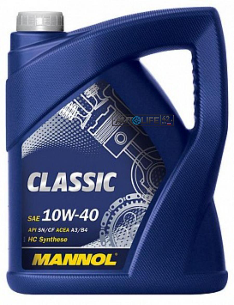 Масло моторное полусинтетическое Classic 10W-40, 5л