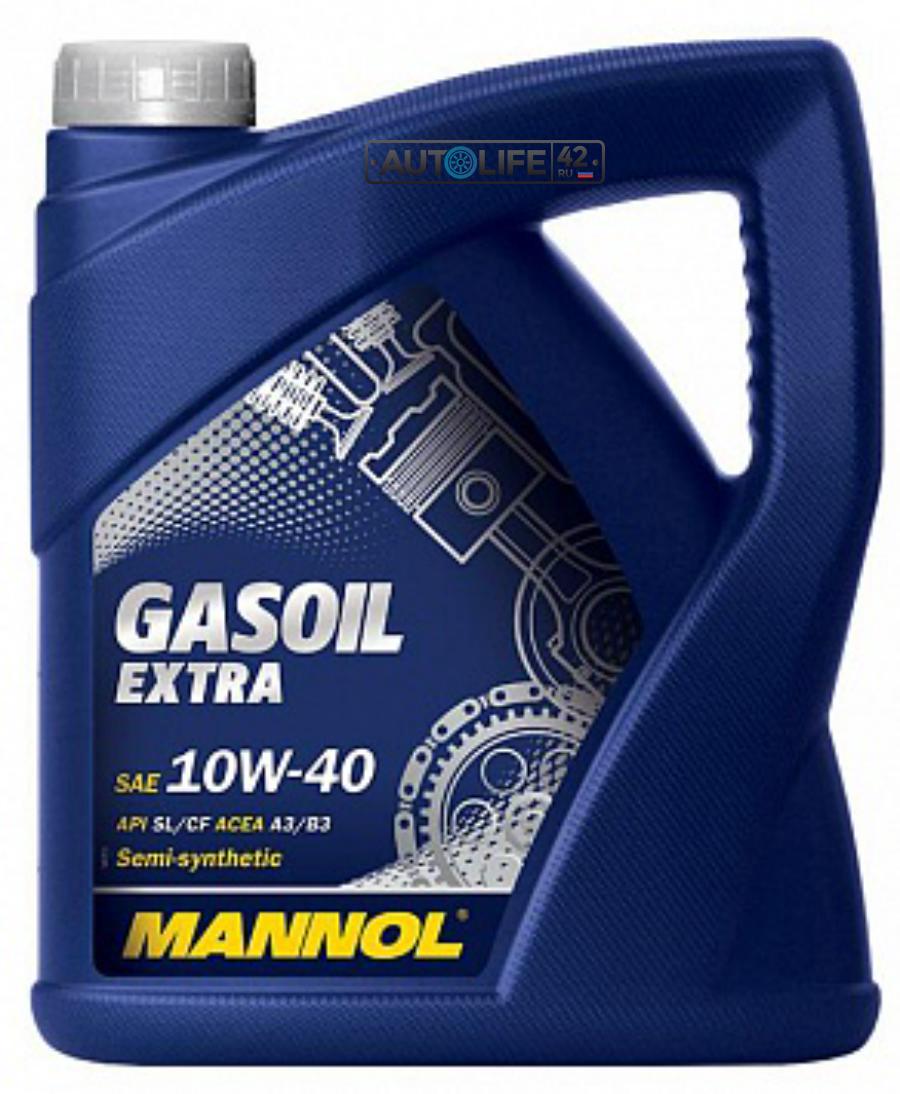 Масло моторное полусинтетическое GASOIL EXTRA 10W-40, 4л