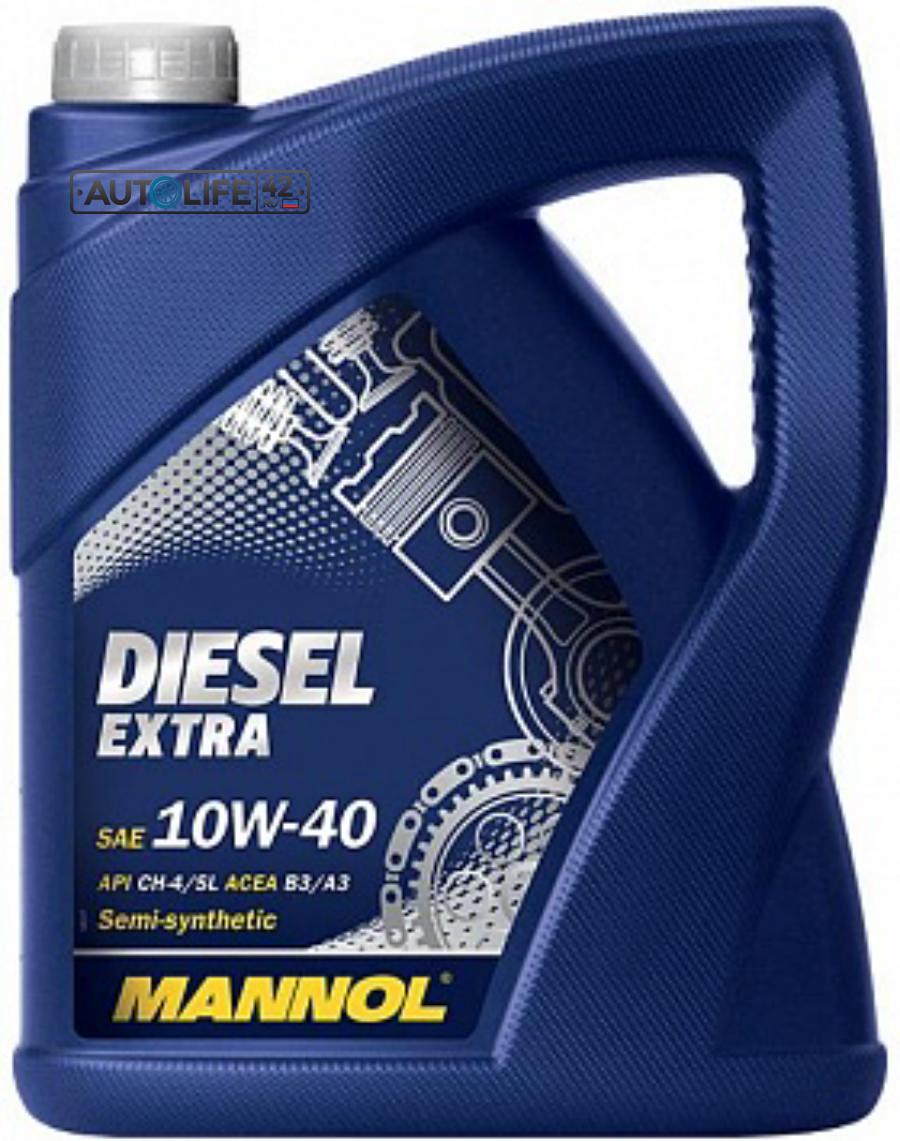 Масло моторное полусинтетическое DIESEL EXTRA 10W-40, 5л