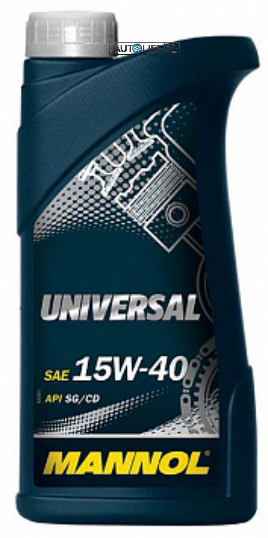 Масло MANNOL UNIVERSAL мин.15W40 (1л)1220