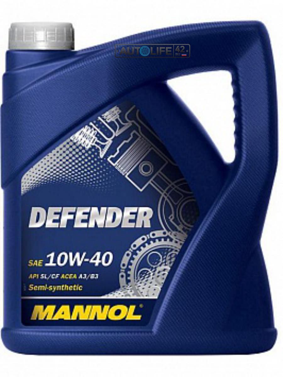 Масло моторное полусинтетическое Defender 10W-40, 4л