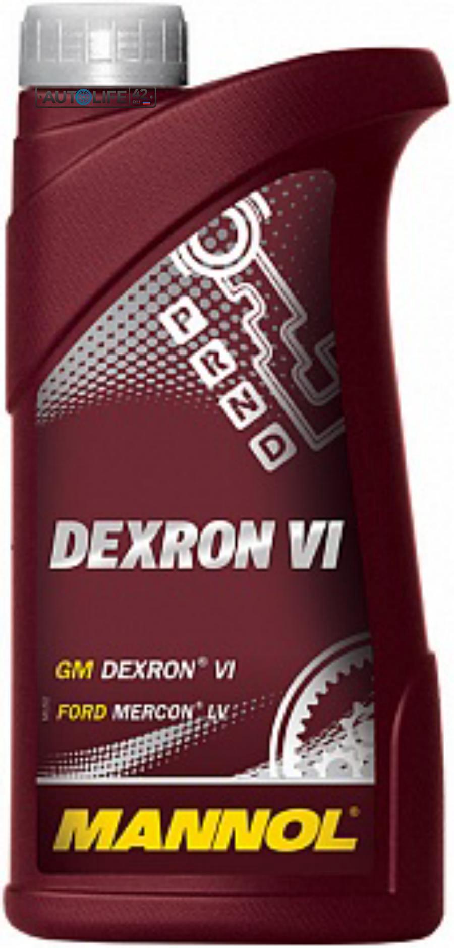 Масло трансмиссионное синтетическое Dexron VI, 1л