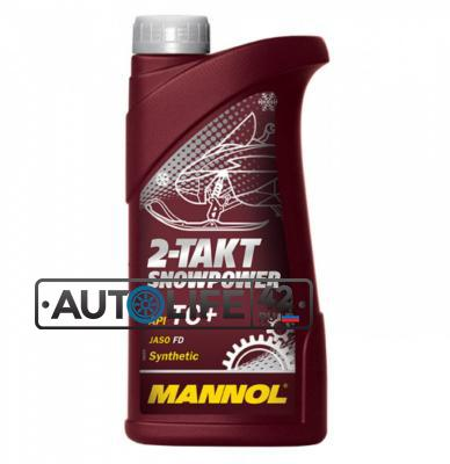 Масло моторное синтетическое 2-Takt Snowpower, 1л