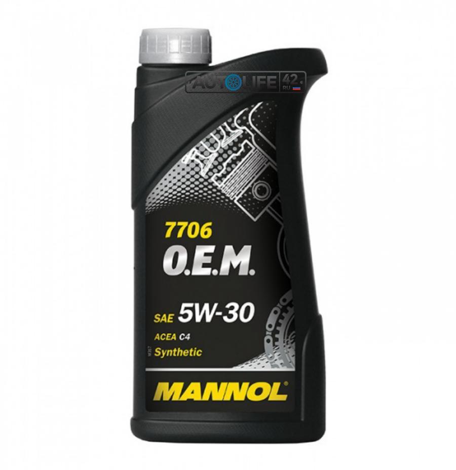 Масло моторное синтетическое 7706 O,E,M, for Renault Nissan 5W-30, 1л