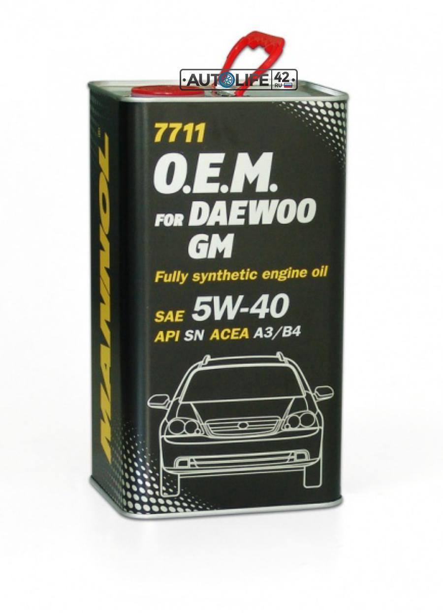 Масло моторное синтетическое 7711 O,E,M, for Daewoo GM 5W-40, 4л