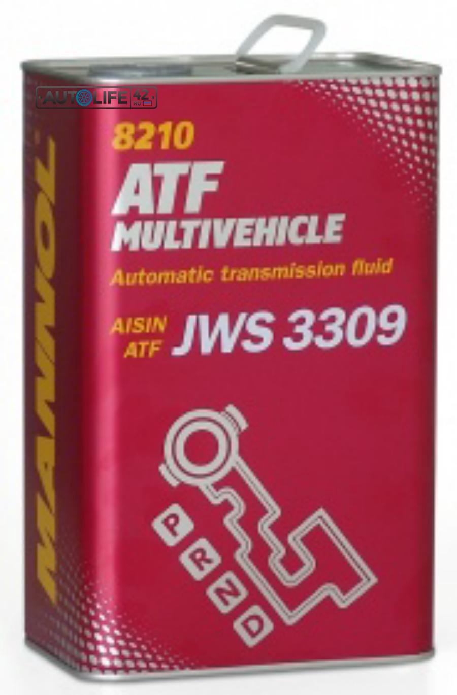 Масло трансмиссионное полусинтетическое ATF Multivehicle, 4л
