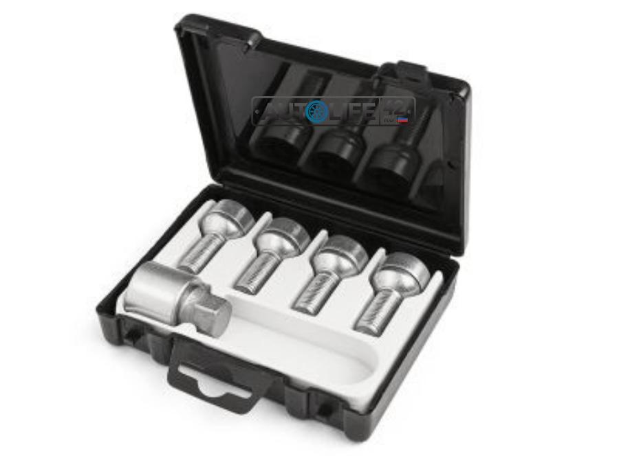 Комплект секреток на колеса Skoda Safety bolt set