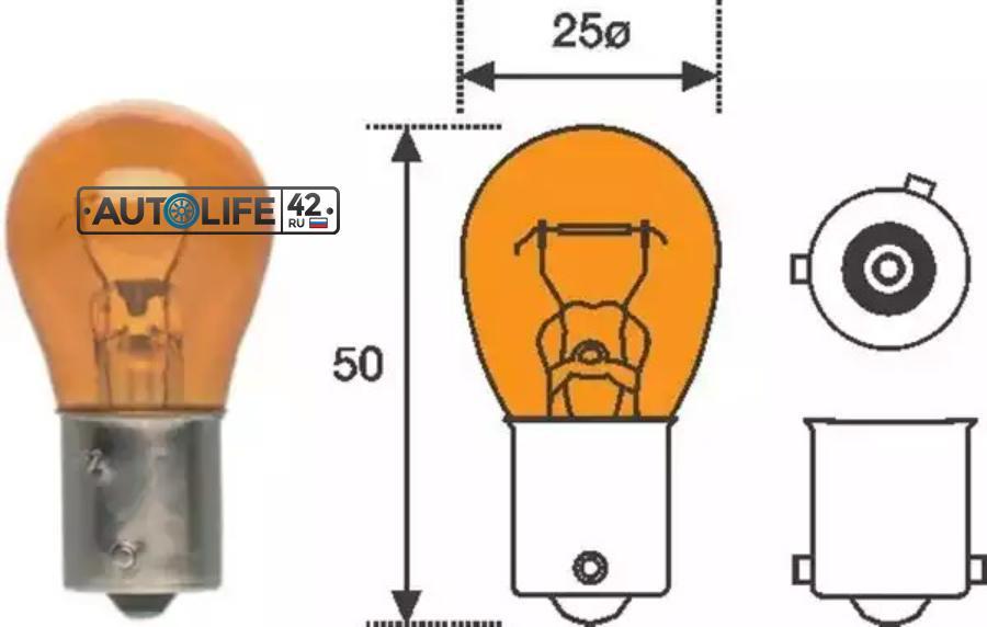 Лампа накаливания, фонарь указателя поворота; Лампа накаливания