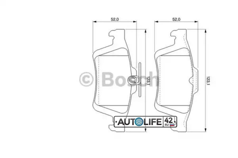 Колодки торм. задн. Ford Focus II/Mazda III/Opel Signum/Renault/Citroen C5