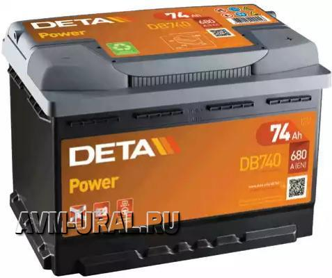 АККУМУЛЯТОР DETA POWER 12 V 74 AH 680 A ETN 0(R+)